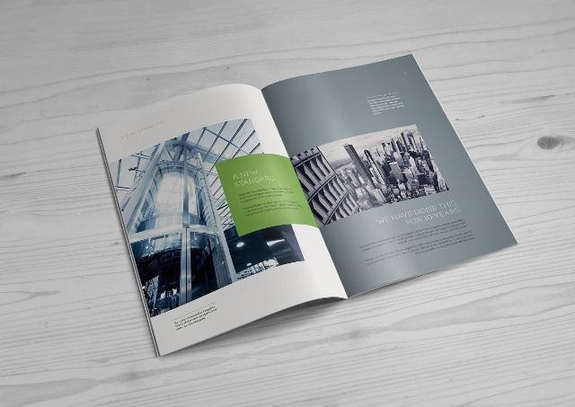 اندازه و ابعاد طراحی کاتالوگ