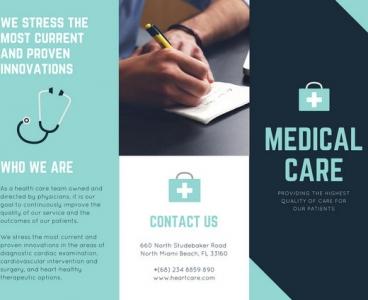 طراحی بروشور پزشکی